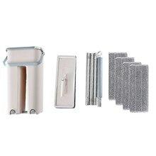 Self-Wringing magiczny mop bezpłatne mycie rąk płaski mop automatyczne Spin 360 obracanie drewniane podłogi urządzenie czyszczące z mopem czyszczenie gospodarstwa domowego d #