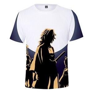 Ghost Blade T Shirt Women Men 3D Demon Sword T-shirt Popular 3D Short Sleeve Tops Anime Design Tops kids Short Sleeve tracksuit