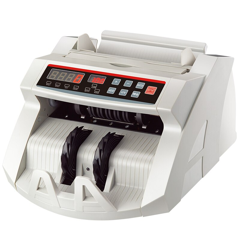 Detector de dinero LED, máquina de contador de billetes barata, máquina de conteo de dinero UV/MG, máquina contadora de billetes, máquina contadora de efectivo para USD/EURO