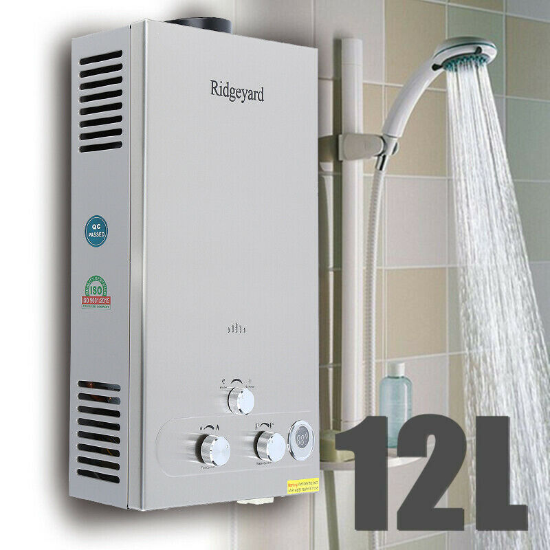 Yonntech 12L 20KW Propane Gas LPG Tankless Hot Water Heater Stainless Steel Instant Boiler with Show