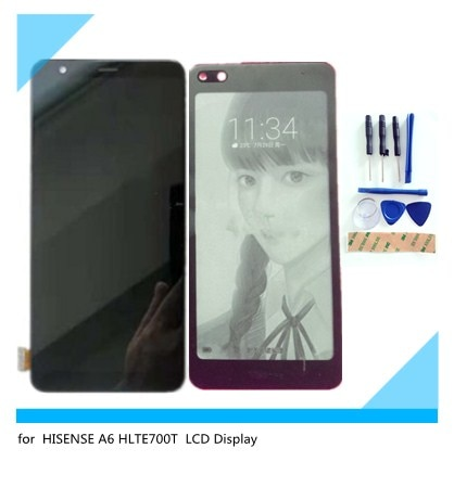 Garantía de 100% para HISENSE A6 HLTE700T pantalla LCD + pantalla táctil de reemplazo