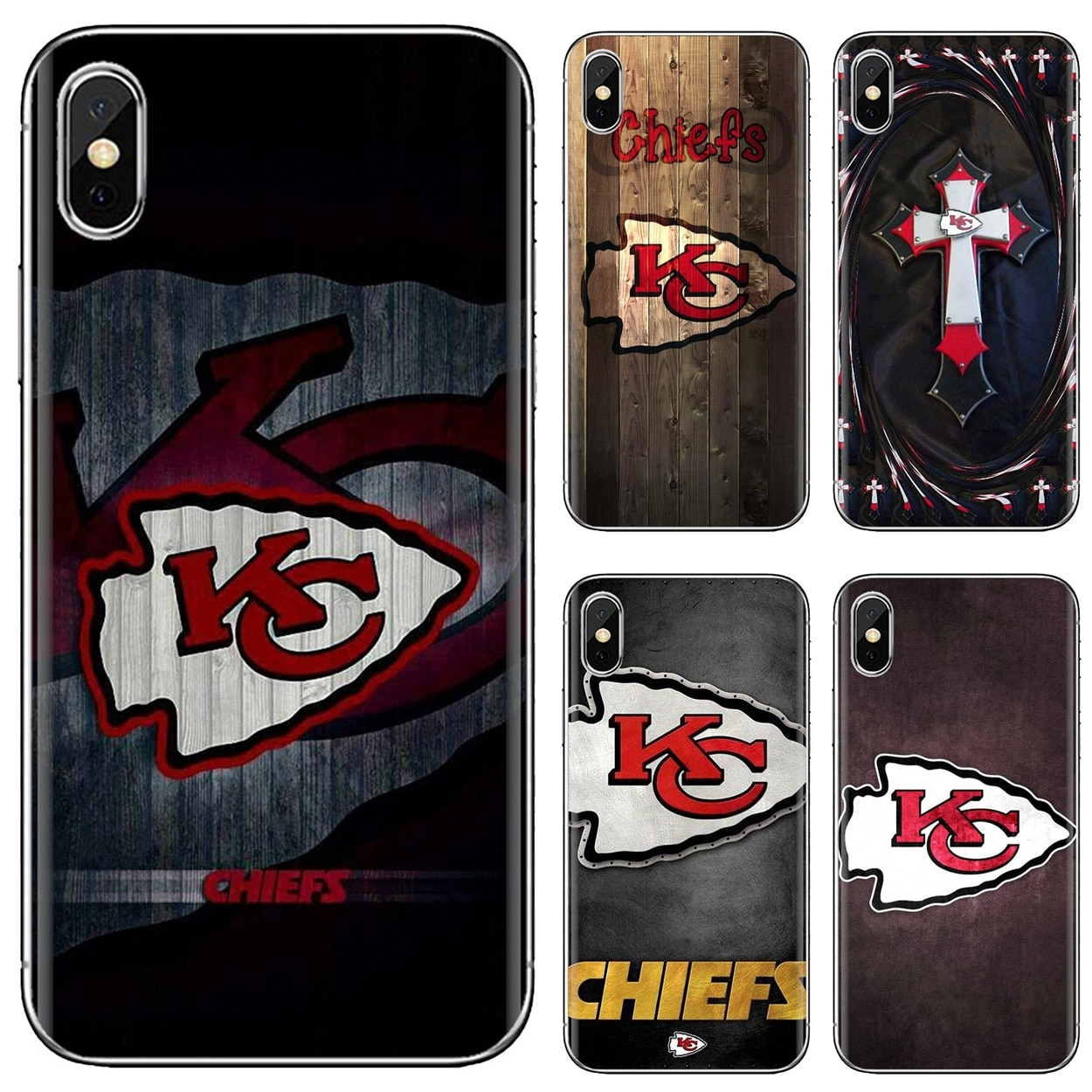 Para iphone 11 pro 4 4S 5 5S se 5c 6 s 7 8x10 xr xs plus max para ipod touch capa macia kansas city chiefs eua logotipo da equipe cartaz