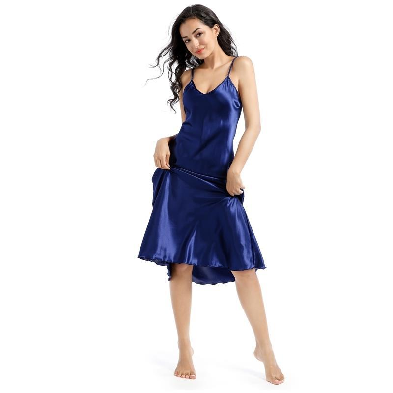 Verão nova camisola babados senhora nightwear vestido de noite cetim cintas de espaguete saia lingerie íntima sexy roupa de casa roupão