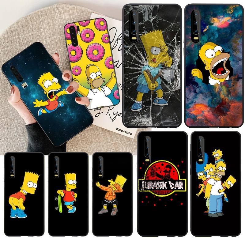 NBDRUICAI Homer J Simpson funny Bart Simpson Cartoon TPU Soft Rubber Phone Cover For Huawei NOVA 2 PLUS 2s 2i 3i 3E 4E 5 5I PRO