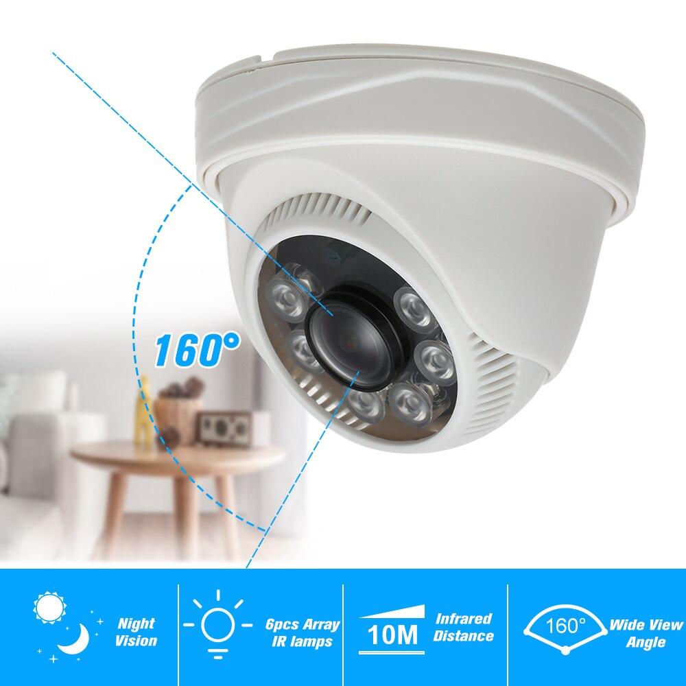1080P AHD Dome CCTV Camera 2.0MP 1.8mm 6pcs Array IR Lamps Night Vision IR-CUT Indoor Home Security PAL System