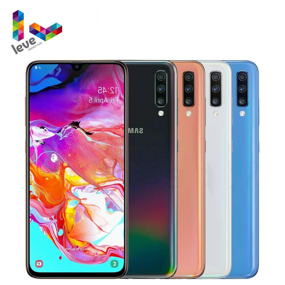 Разблокированный Samsung Galaxy A70 A7050 2SIM мобильный телефон 6,7 дюйм 6/8 Гб оперативной памяти 128 ГБ ROM Octa Core NFC 3 тыловая камера 32MP Android смартфон