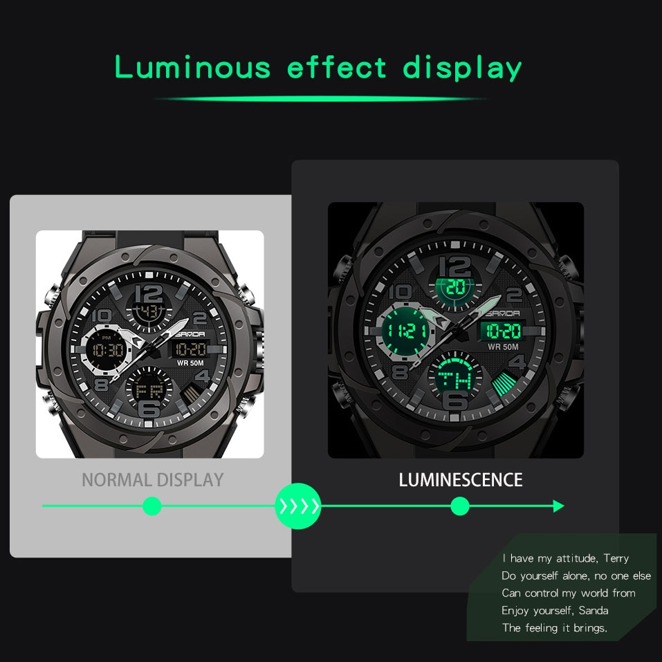 Women Men Fashion Multifunctional Digital Wristwatches Outoor Quartz Watches Alarm Calendar Luminous Watch Creative Gifts enlarge