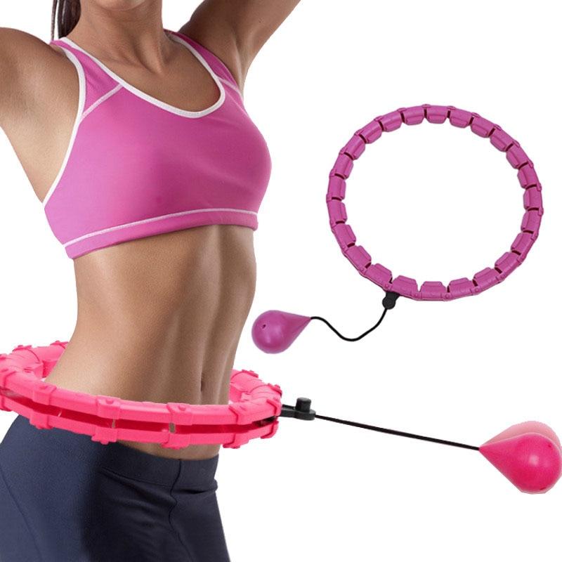 24 أقسام ضبط اللياقة البدنية هوب انفصال النساء الرياضة الأطواق فقدان الوزن هوولا دائرة تدليك الأطواق اللياقة البدنية معدات رياضية للمنزل