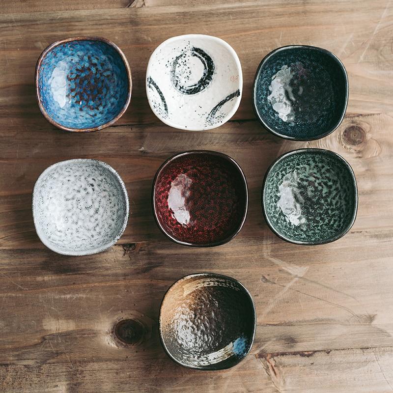 Antowal petit plat à Sauce rétro en céramique de Style japonais, soucoupe vaisselle de table Restaurant coréen petit bol à plats