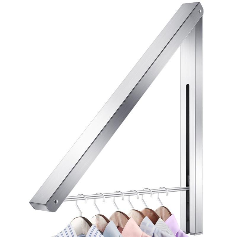 Soporte de Perchero de aluminio para colgar ropa ajustable para organización de lavandería, sistema de almacenamiento de armario