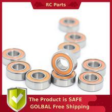 MR105RS Bearing ABEC-3 (10PCS) 5X10X4 mm Miniature MR105-2RS Ball Bearings Orange Sealed MR105 2RS Quality