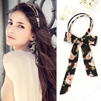 Новые рекламные акции, женские элегантные модные заколки для волос Mori, тканевые ленты для волос с принтом