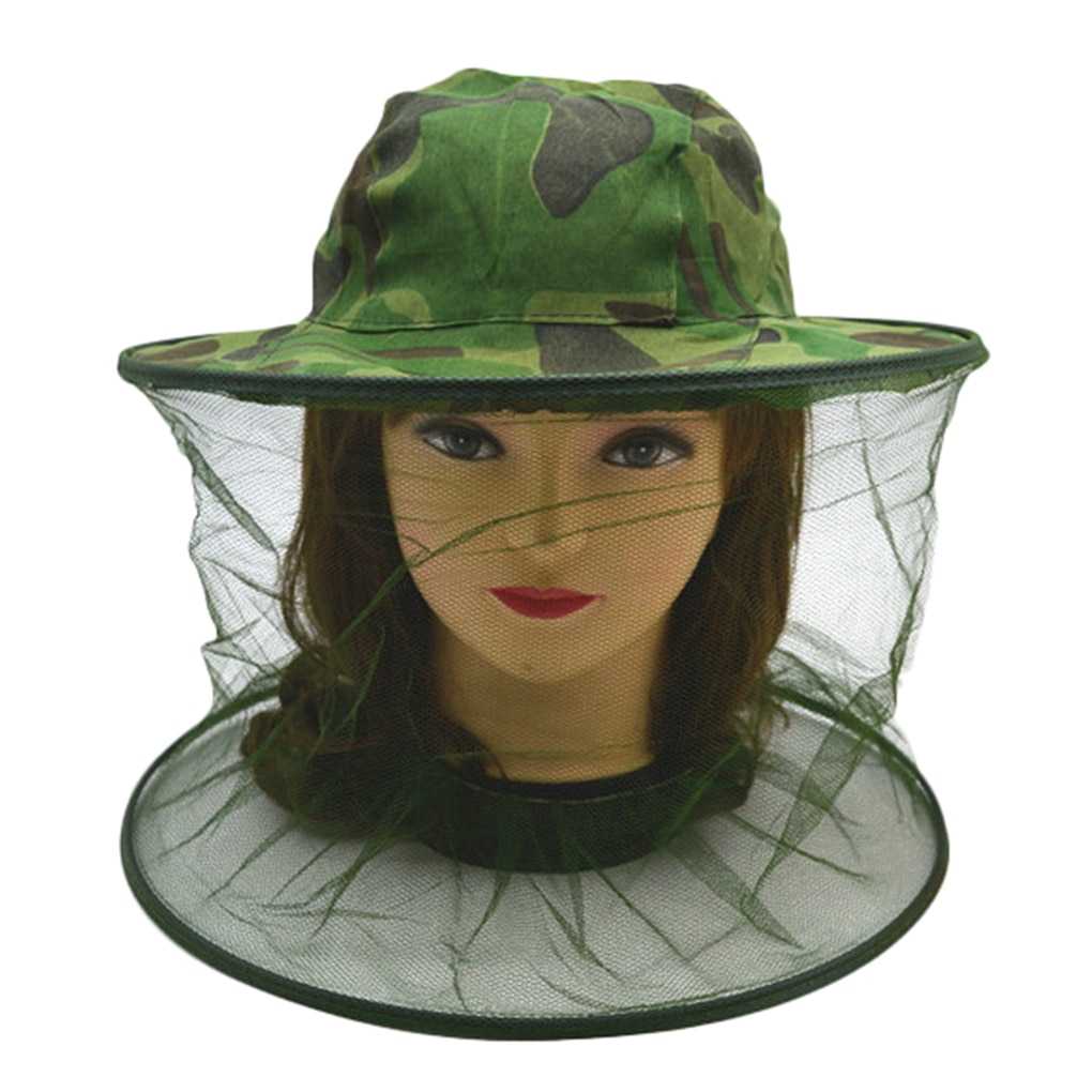 outdoor survival anti mosquito bug bee insect mesh hat head face protect net cover travel camping protector camping equipment Mosquito Head Face Protector Net Hat Insect Bugs Bee Proof Mesh Hat Beekeeping Hat Outdoor Fishing Sun Cap Face Protector