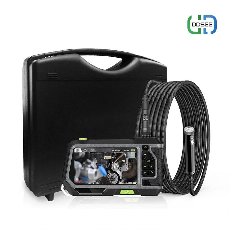 Podwójny obiektyw kamera endoskopowa z 5-Cal monitorem IPS LCD przemysłowy wodoodporny wziernik optyczny z 6 przybornikami LED