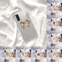 interesting angel phone case transparent for vivo s 9 7 6 iqoo neo 7 5 3 z3 z1 x e pro soft tpu clear mobile bags