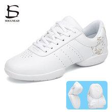 Women Aerobics Shoes Sneakers Jazz Dance Shoe Hip-hop Children Girls Competitive Gym Fitness Shoes K