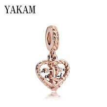 Anchor of True Love Pendant Fit Original Pandora Charms Bracelet Rose Knot Star Heart Beads for Women Jewelry Making DIY Pulsera