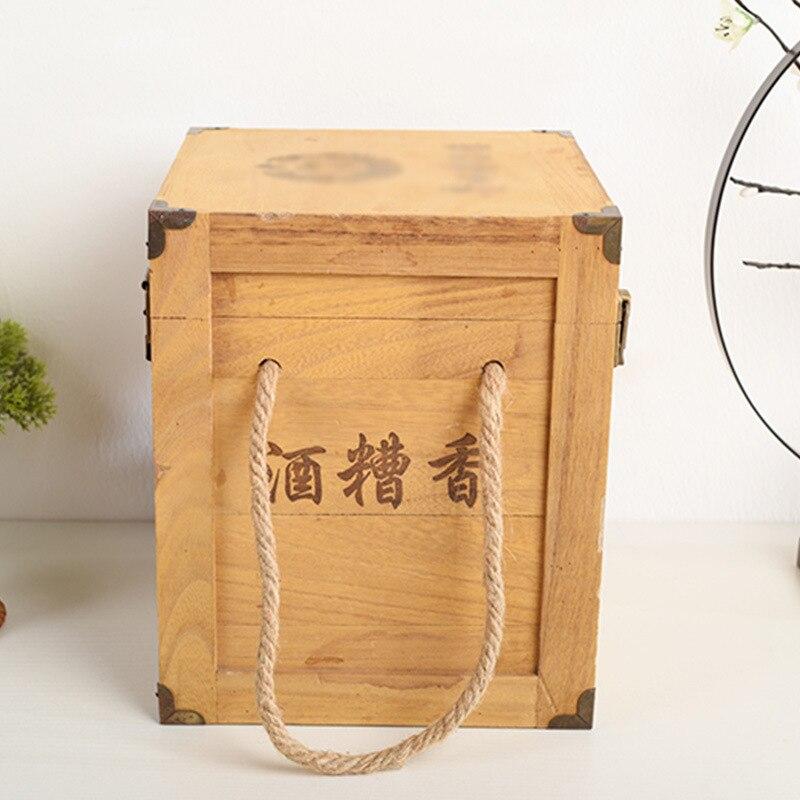 خمر صندوق الكحول الخشبي بولونيا 6-حزمة صندوق النبيذ الأبيض خمر عتيق 6-حزمة صندوق خشبي النبيذ الأحمر