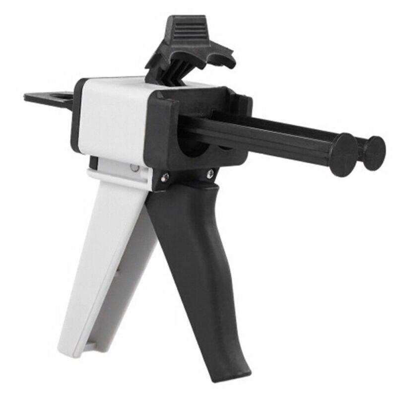 Pistola de calafateo de 50ml, pistola aplicadora de pistola de pegamento epoxi AB 11/21, dispensador manual de pegamento AB, pistola de pegamento