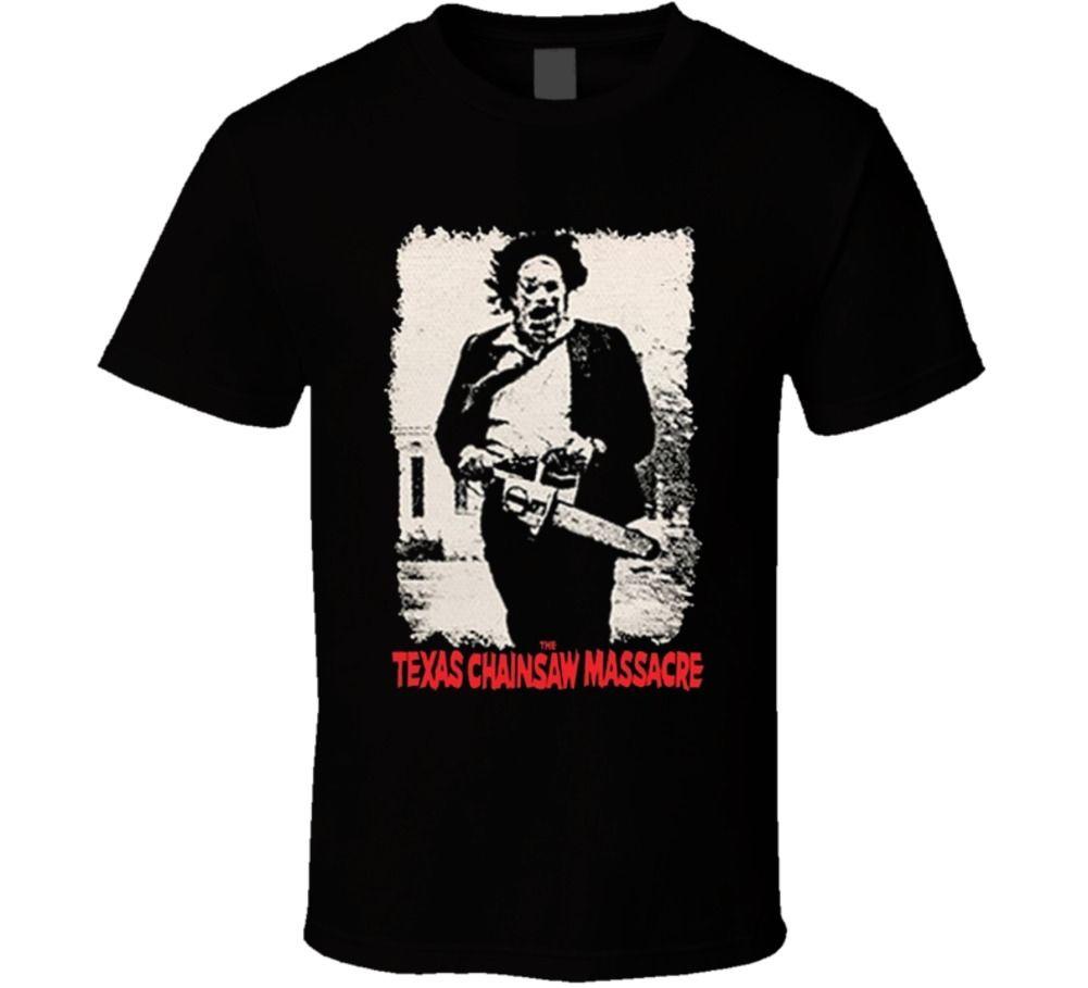 La Texas motosierra masacre Leatherface Horror película camiseta para hombre regalo nueva o-cuello manga corta Camiseta de algodón