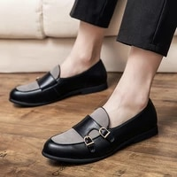 yrzl leather shoes korean style classic high quality slip on comfortable non slip flat loafers casual men shoes leather