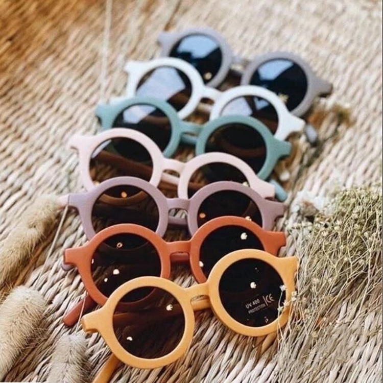 2021 Children's Sunglasses Infant's Retro Solid Color Cute Outdoor Beach Protection For Kids
