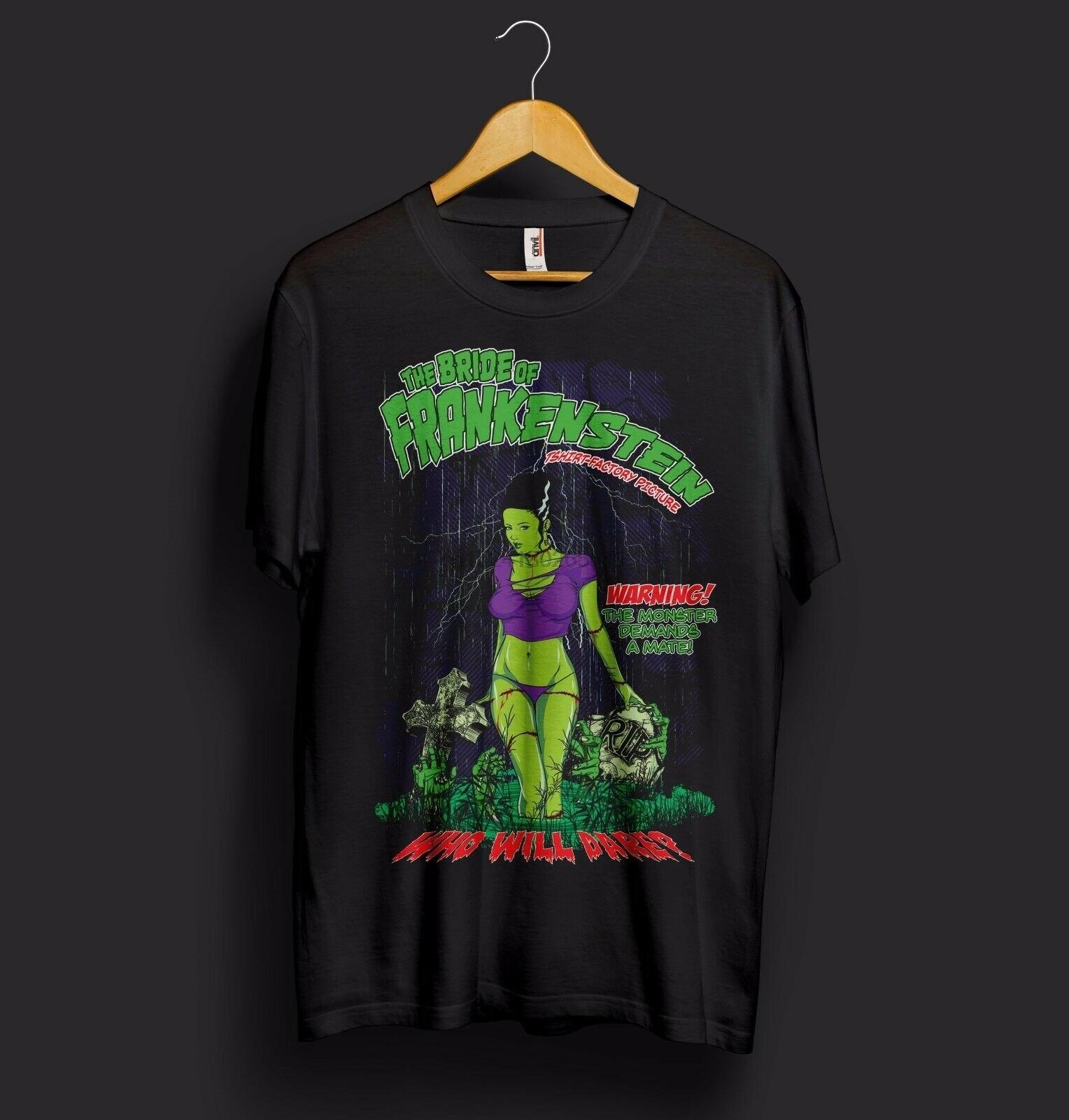 Camiseta de Halloween de la novia de Frankenstein, Horror Nosferatu, monstruo vampiro