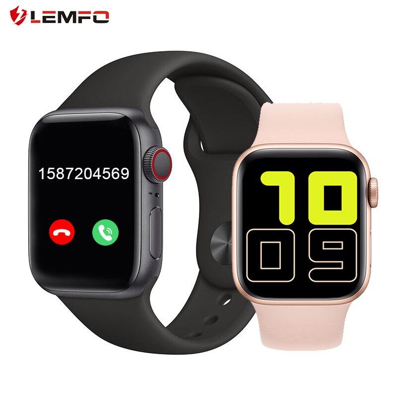 "LEMFO X6 1,54 ""reloj inteligente completamente táctil para hombres para Apple Watch soporte Bluetooth llamada música Play mujeres Smart Band PK W34"