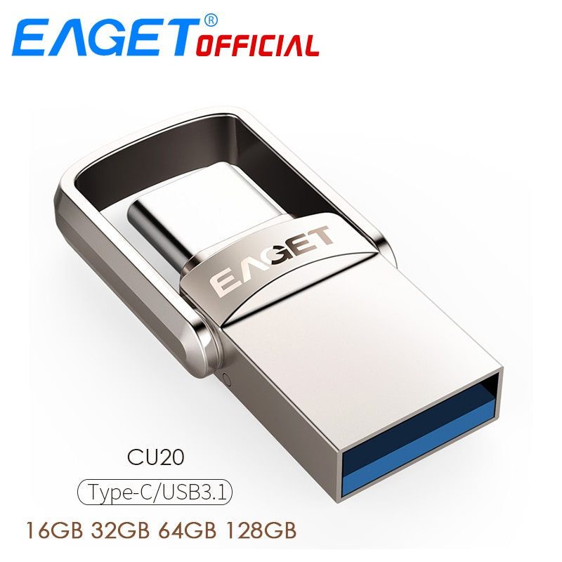 EAGET Type C USB Флешка 16GB USB 3.0 Флешка 32GB 64GB 128GB Флешки USB Флешка Диск Для huawei Для Телефонов Xiaomi Ноутбуки