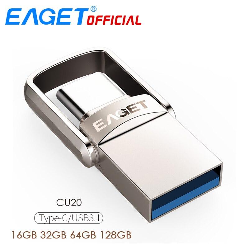 EAGET CU20 USB-Stick 32GB OTG Metall USB 3,0 Pen Drive 64GB Typ C High Speed pendrive mini-Stick Memory Stick