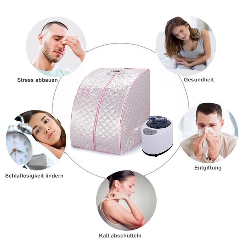 المحمولة العلاجية البخار ساونا سبا منزلية السموم العلاج منخفضة EMF الأشعة تحت الحمراء البعيدة ساونا الشخصية مع التدفئة وسادة للقدم كرسي HWC