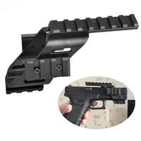 universal tactical aeg pistol plastic base quad rail picatinny weaver sight laser lighting scope mount for glock 17 5 56 1911