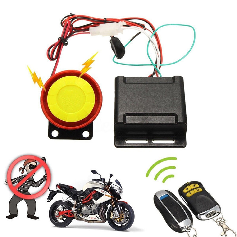 12V Car High Power Siren Security Alarm System Remote Control Anti-theft Motorcycle Bike Waterproof