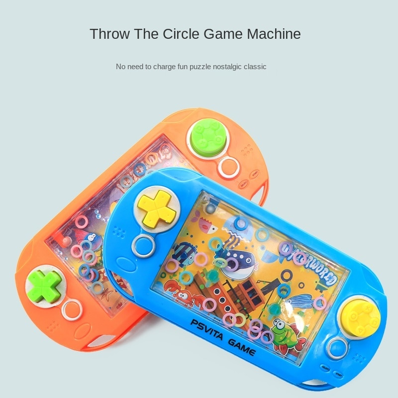Children's educational toy ring water machine 80 generation nostalgic toy 90 generation water ring game machine enlarge