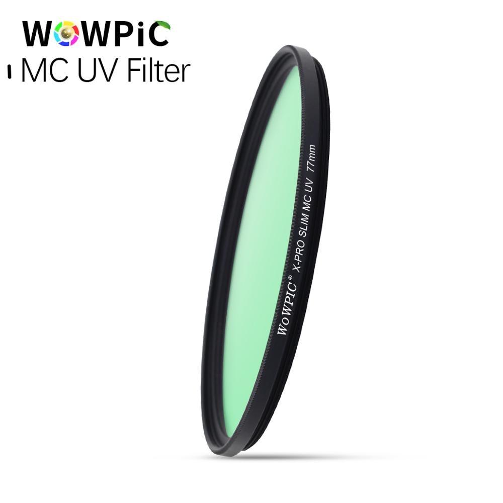 67mm MC UV Filter WOWPIC Super Dünne Grün Muticoating 16 schichten Objektiv Protector 67mm Kamera Filter für Canon nikon DSLR Kamera