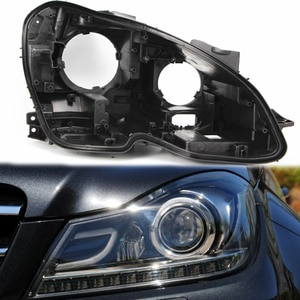 w204 shell Front headlight cover black base Headlight back shell for Mercedes-Benz W204 C180C200 C260 Black headlight protection