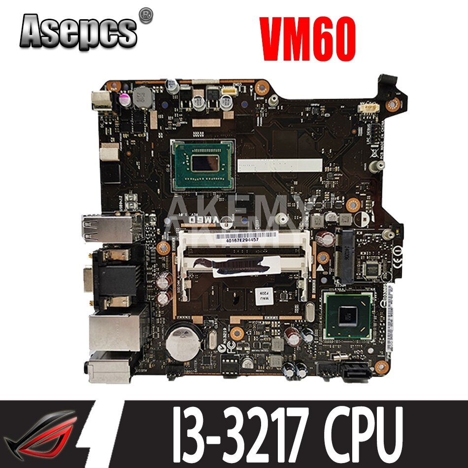 Review New Akemy VM60 Mainboard For ASUS VM60 All-in-one Mini PC Motherboard 100% Test OK I3-3217 CPU