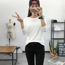 Long Sleeves Solid Color T-shirt Female 2020 Spring Women Leisure Shou Shen Women T-shirt Base Shirt Best Selling T Shirt