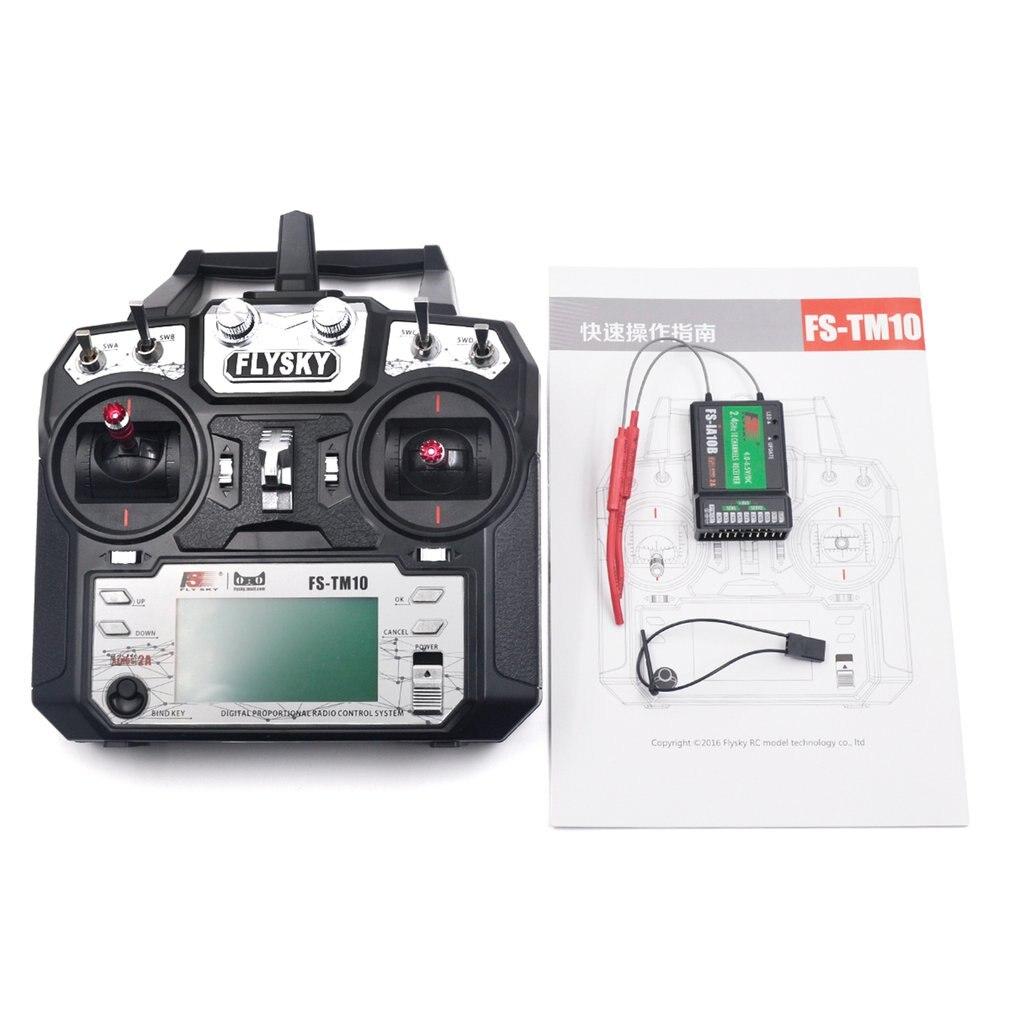 Flysky FS-TM10 FS-i6X 10CH 2,4 GHz AFHDS RC transmisor modelo de Radio control remoto de plástico Neutral