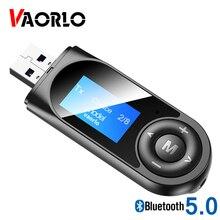 Новый ЖК дисплей VAORLO, Bluetooth 5,0, аудиоприемник с микрофоном для ТВ, ПК, автомобильная стереосистема, USB 3,5 мм, AUX RCA, беспроводной адаптер