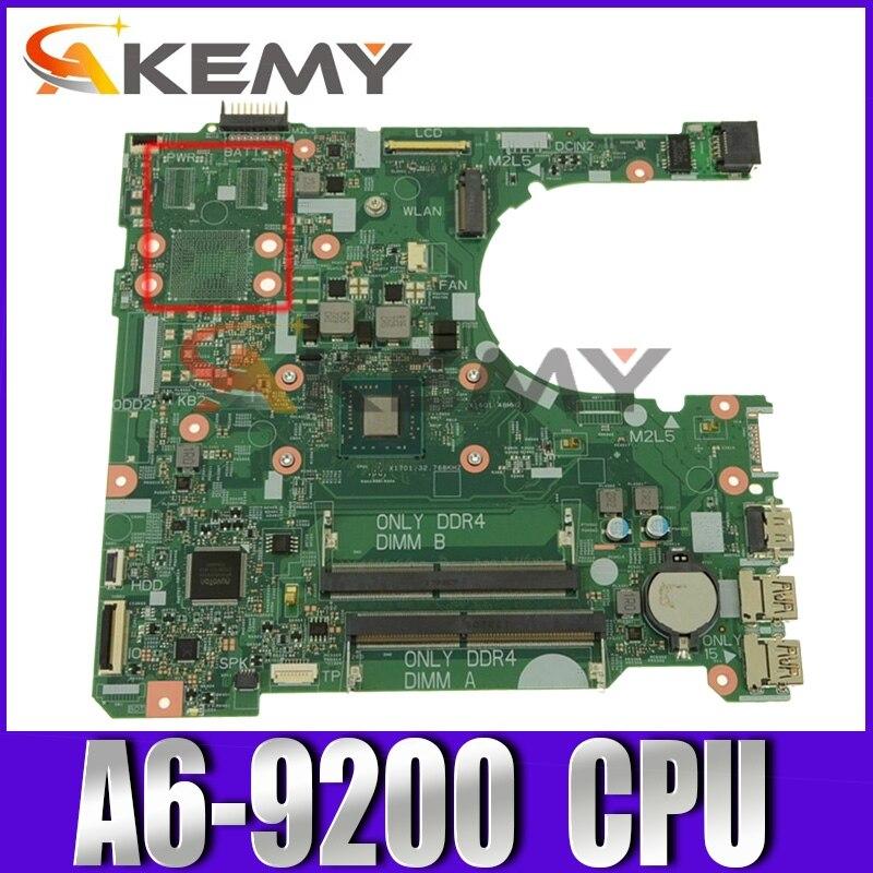 الأصلي CN-0NV2JC 0NV2JC NV2JC اللوحة المحمول لديل انسبايرون 14 3465 15 3565 النواة A6-9200 AM9200 اللوحة 16808-1