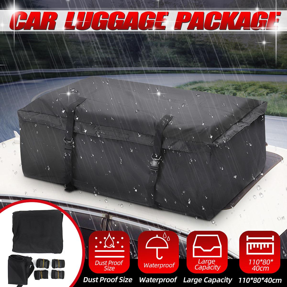 Bolsa para techo de coche de 110x80x40cm, bolsa para techo, portaequipajes, almacenamiento de equipaje, viaje, impermeable, furgoneta SUV para coches