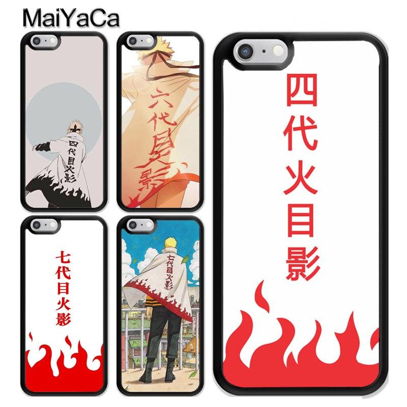 Naruto 4. 7. Hokage płaszcz etui na iPhone 11 Pro MAX X XR XS MAX SE 2020 6S 7 8 Plus 5s pokrywa Coque