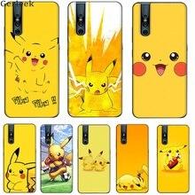 Pikachu soft black for VIVO Y11 17 5s 53 55 71 v5 7 9 11 15 pro x30 pro IQOO case