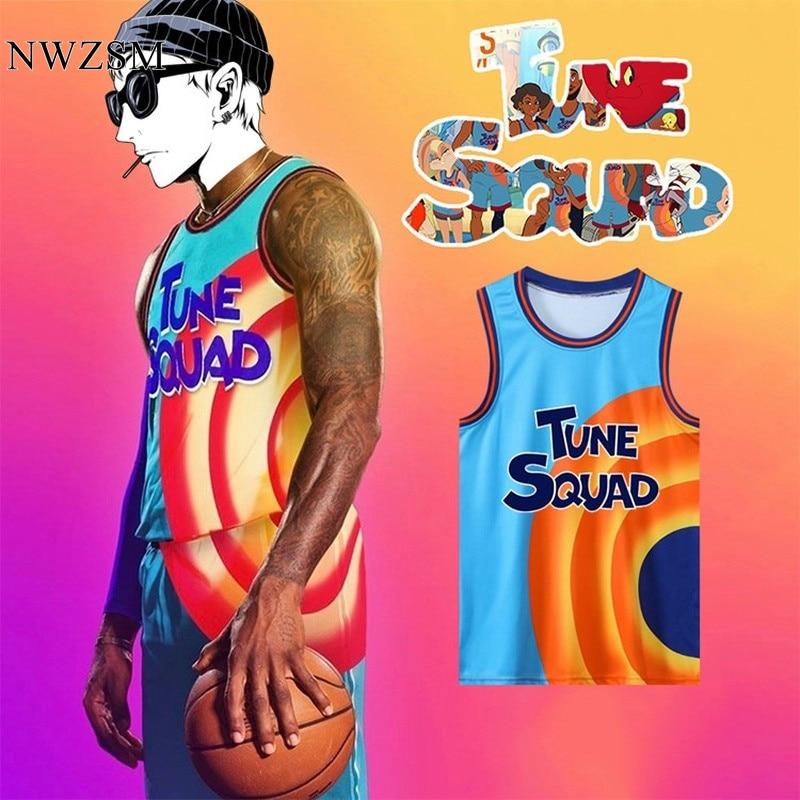 Футболка из мультфильма Космический Джем ES 6 #23 # набор футболок для баскетбола из отряда мелодии спортивная рубашка с рукавом в виде шлема