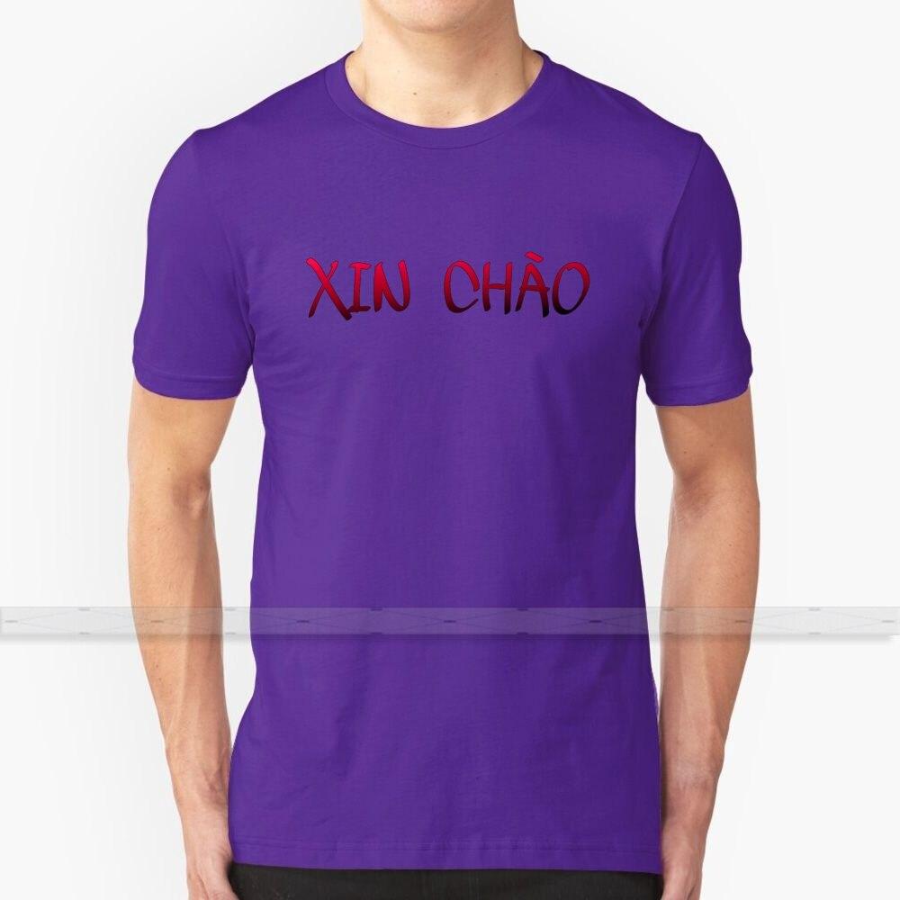 Hello-vietnam-rojo camiseta de los hombres de las mujeres de verano 100% de algodón camisetas parte de arriba nueva Popular camisetas vietnam vietnamita aprendizaje