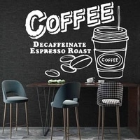 kitchen vinyl wall stickers for diy home decor dining room decoration removable cuisine coffee decals mural muursticker hq1148
