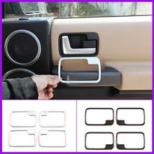 Autocollants de garniture pour poignée de porte intérieure de voiture, en ABS chromé, pour Land Rover Discovery 3 2004 – 2009, accessoires automobiles