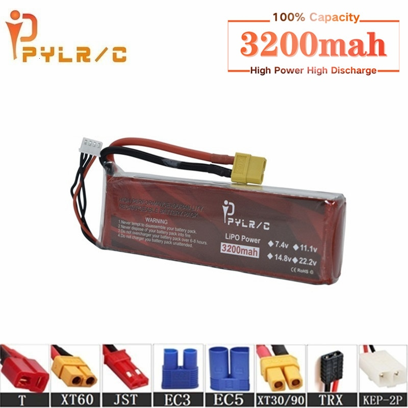 High Rate 7.4v 3200mAh Lipo Battery For RC Helicopter Parts 2s Lithium battery 7.4v 35C RC Cars Airp