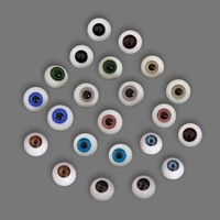 bjd doll eyes toy doll glass acrylic eyeball craft 13 14 16 18 full size rebirth doll accessories eye in various colors